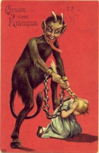 krampus pulling hair